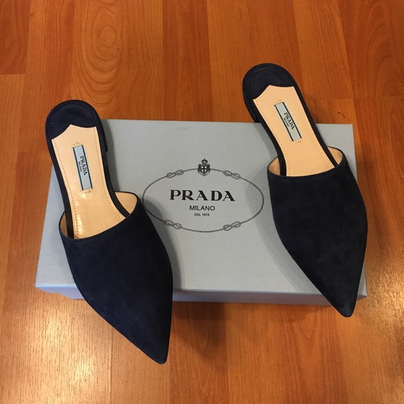 Prada Shoes - Prada Suede Pointed Toe Mules